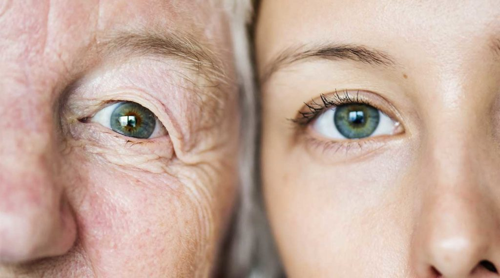 is addiction genetic two women comparing eye color