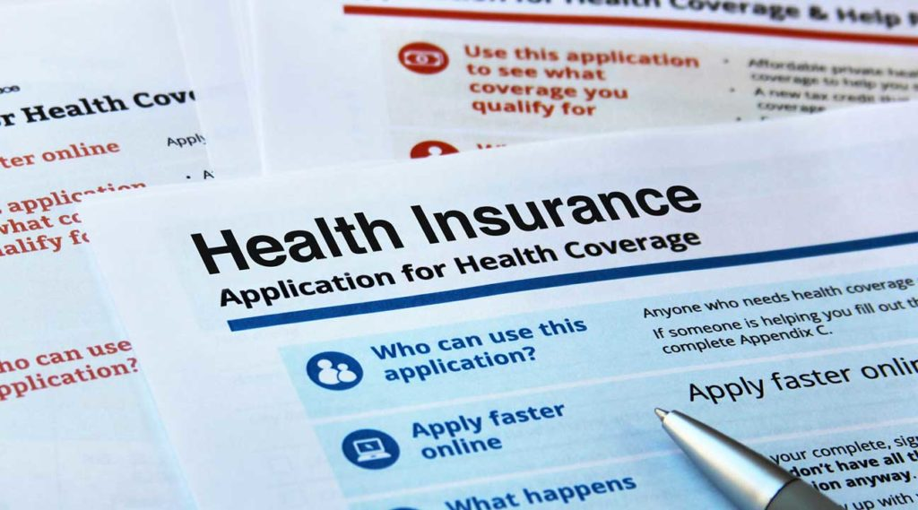 health insurance application for health insurance coverage